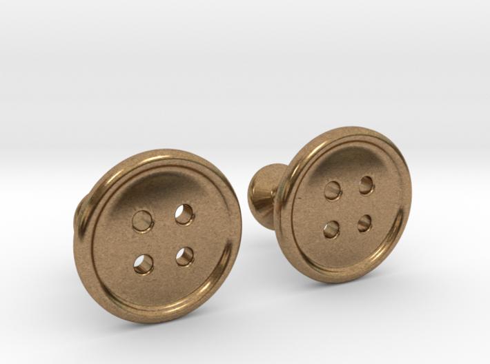 Button Cufflinks 3d printed