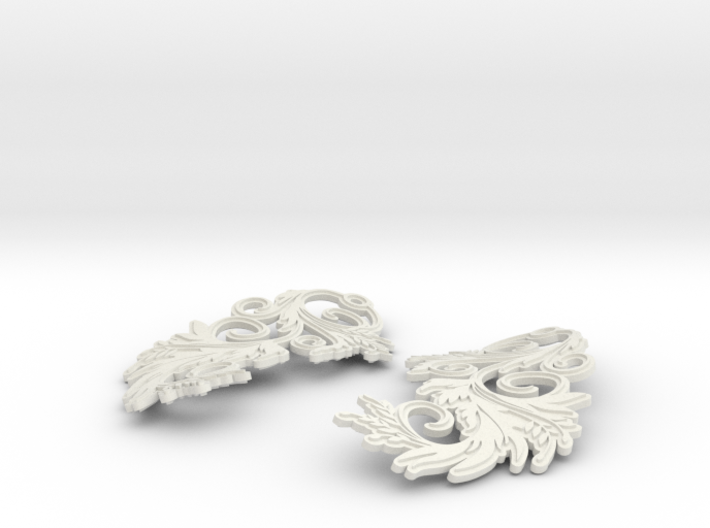 Blossom Earrings 3d printed Blossom earrings