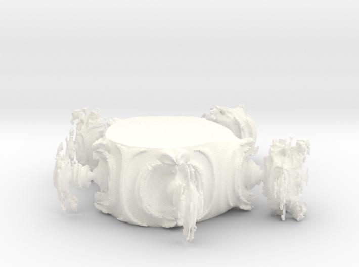 Juliabulb-transpoly-doorsnede 3d printed