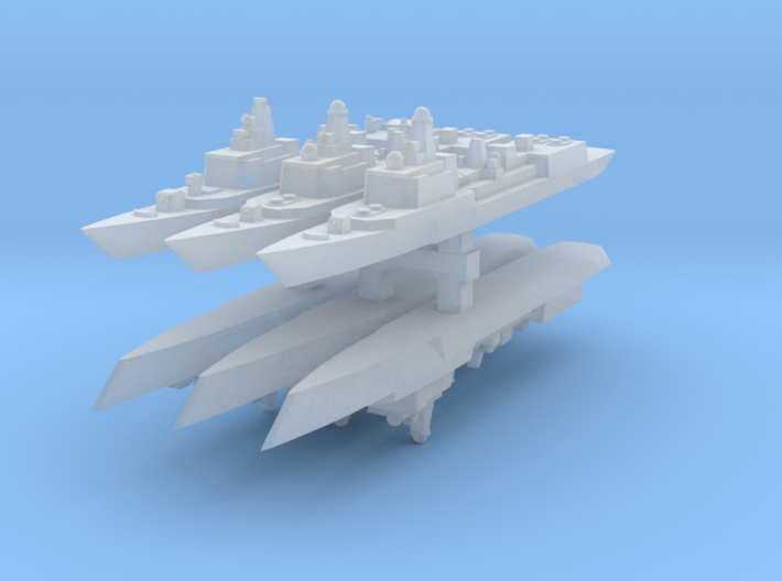 051B & 051C PLAN Destroyers 1:6000 x6 3d printed