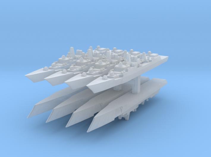Type 052B 1:6000 x8 3d printed
