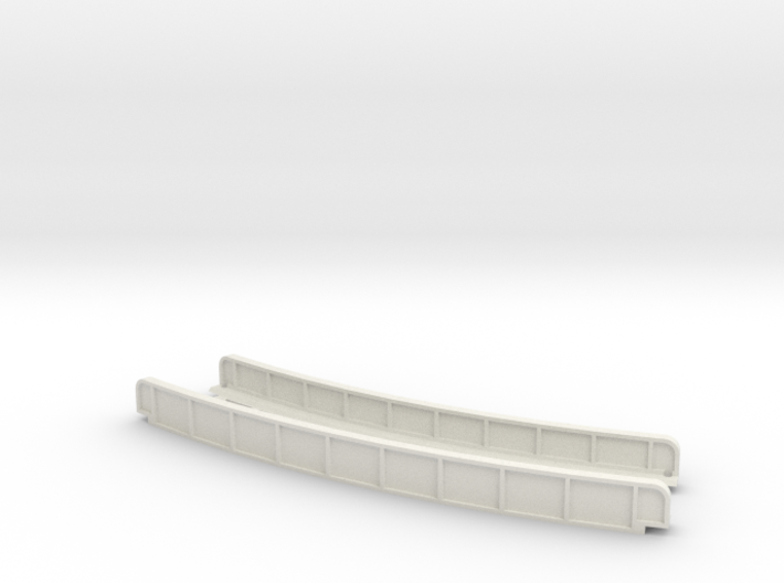 CURVED 270mm 30° SINGLE TRACK VIADUCT 3d printed