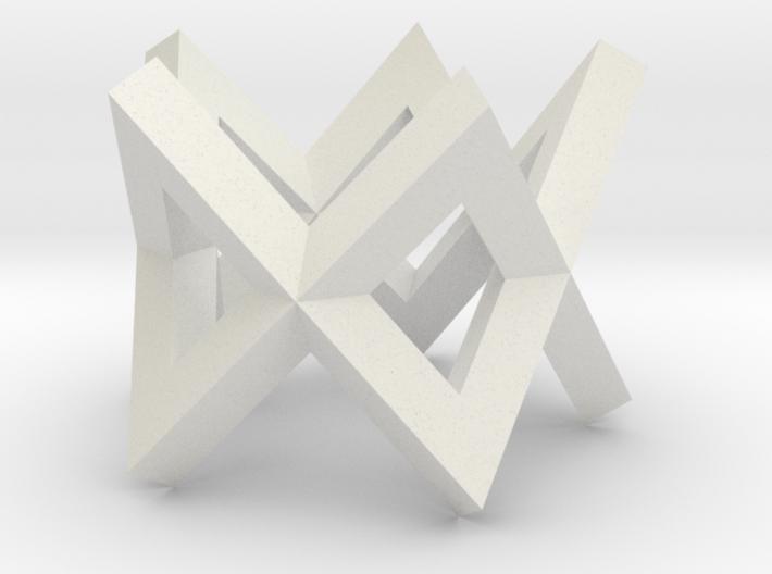Regular Constant-torsion Polygon (+-)^5 3d printed