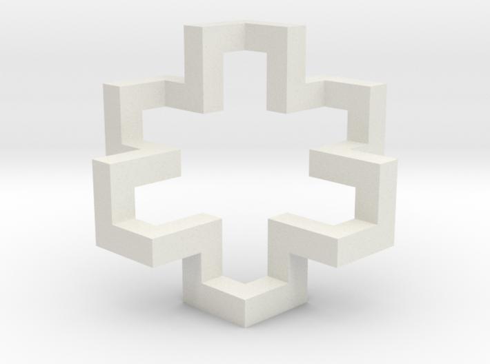 Regular Constant-torsion Polygon (++++----)^3 3d printed