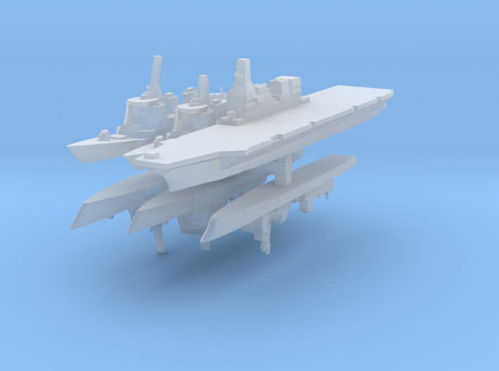 JMSDF Fleet Pack 1:6000 (6 Ships) 3d printed