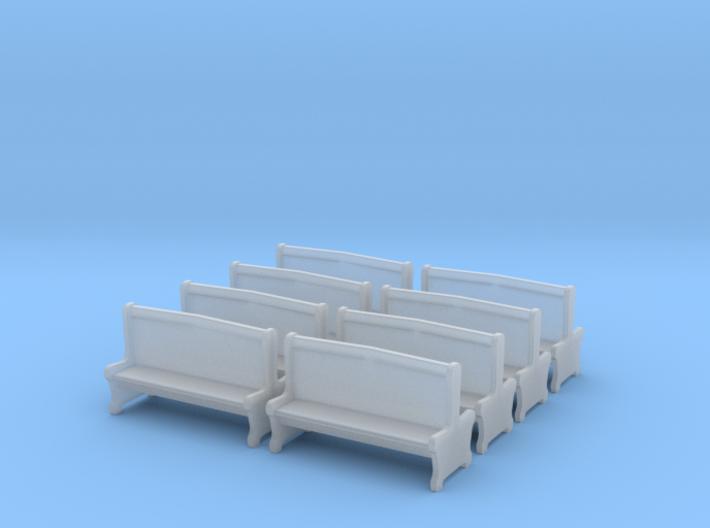Bench type A - 00 ( 1:76 scale ) 10 Pcs set 3d printed