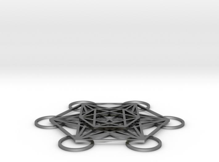 Metatrons Cube Layered 50mm 3d printed