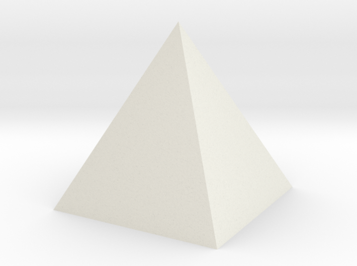 The pyramid 3d printed