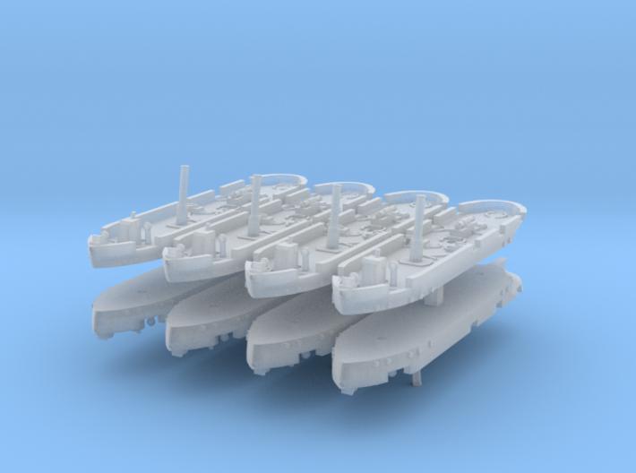 Dapper Class Gunboat 1:1200 3d printed