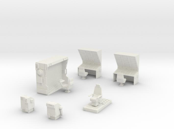 CP10 Space Fortress Bridge Set (28mm) 3d printed