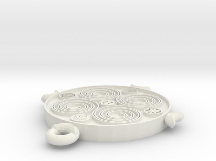 Viking Spiral Pendant 3d printed
