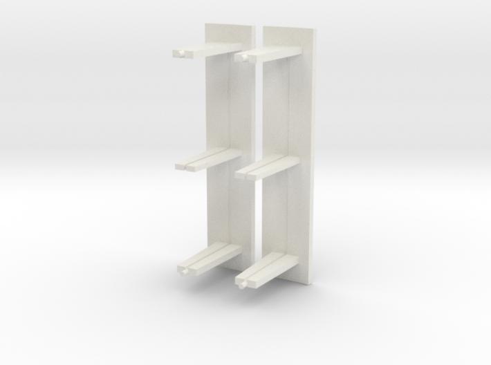 Abri bushalte glas lang model schaal N 3d printed