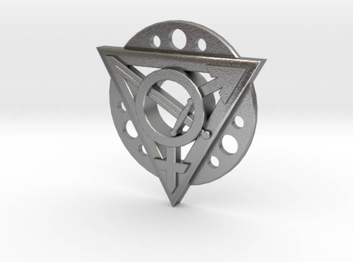 Transgender Warrior Pendant (flanged) 3d printed