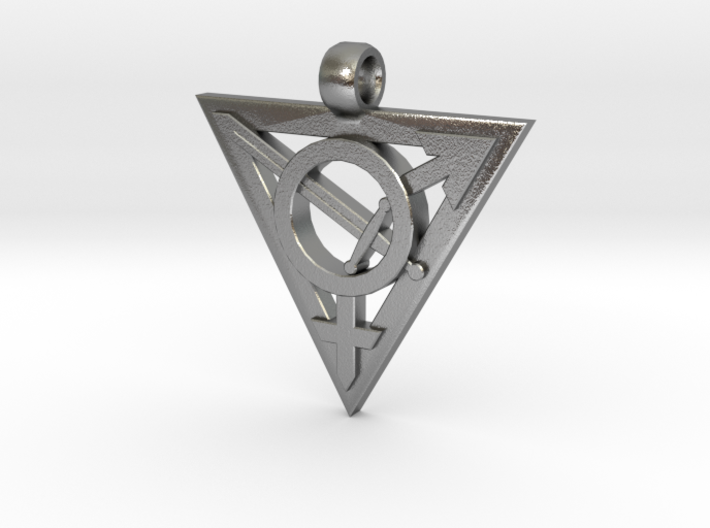 Transgender Warrior Pendant (medium) 3d printed