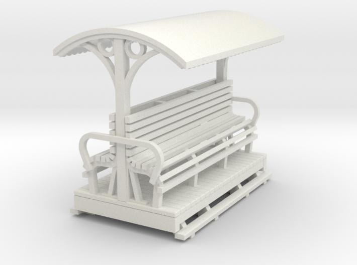 OO9 Small medium longitudinal seat open coach 3d printed