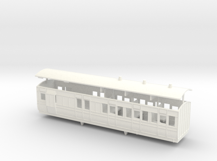 3mm scale LBER Brake Third Class Coach 3d printed