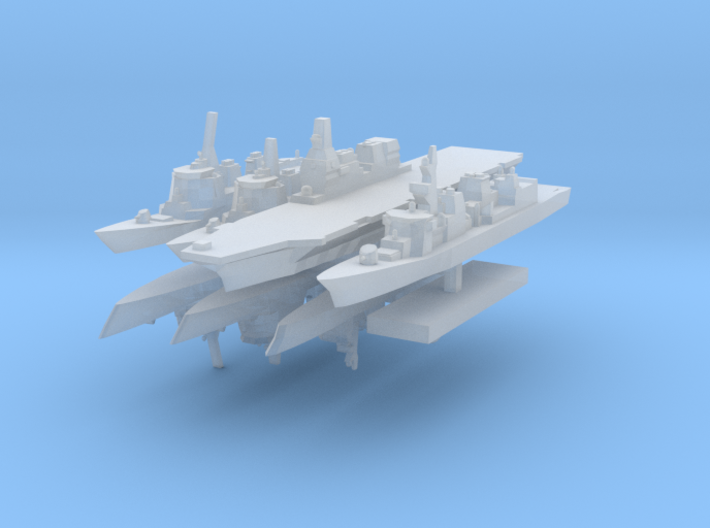JMSF fleet 2 1:4800 (8 ships) 3d printed