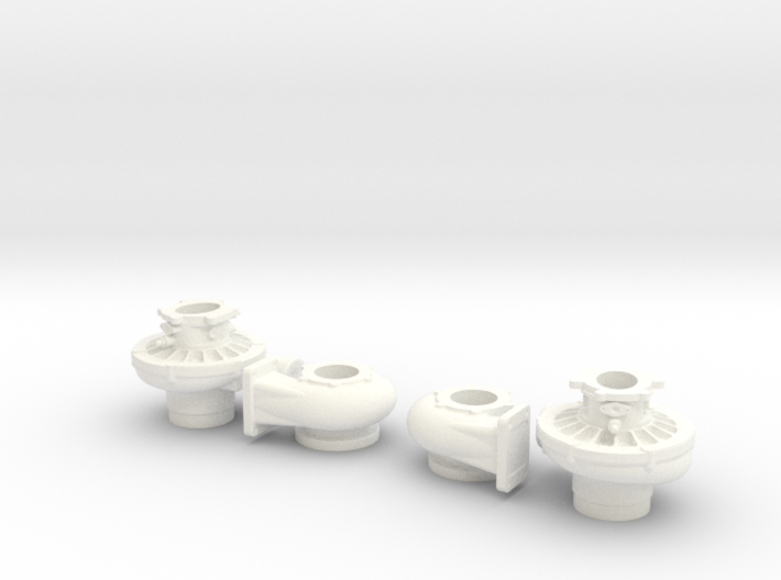 1/8 Scale 3 Inch Right And Left Turbo 3d printed