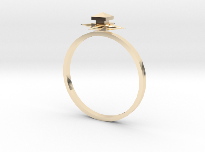 Temple Ring - Sz. 8 3d printed