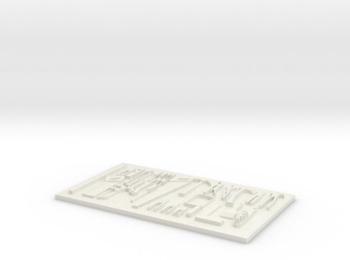tool board 3d printed