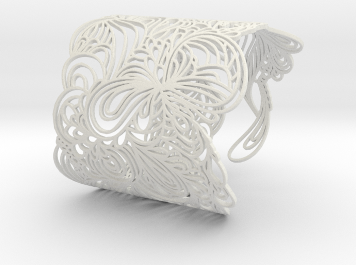 WAVE BANGLE 3d printed