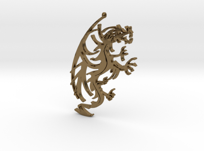 Dragon Pendant 3d printed