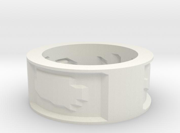 by kelecrea, engraved: Un anillo para gobernarlos 3d printed