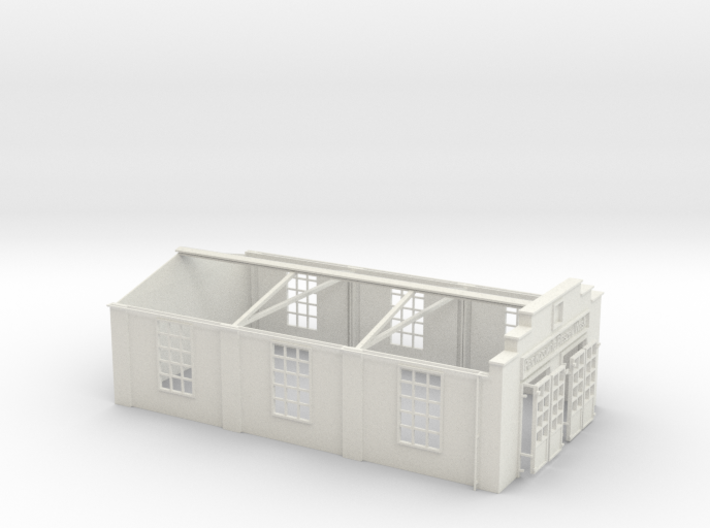 Pleszew Shed walls and roof trusses 3d printed