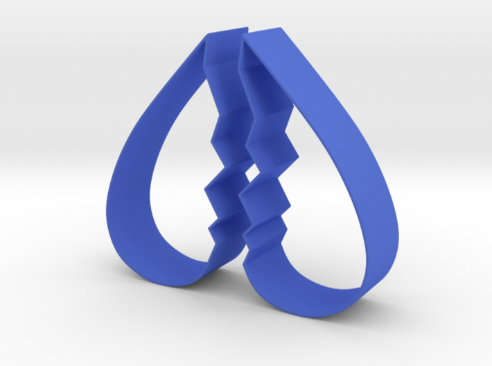 Cookie Cutter - Broken Heart Design 3d printed