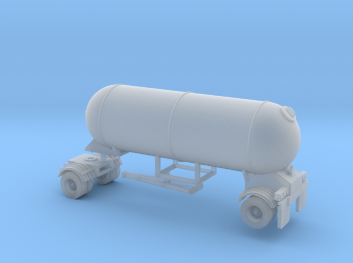 N scale 1/160 LPG Pup single-axle, trailer 15  3d printed