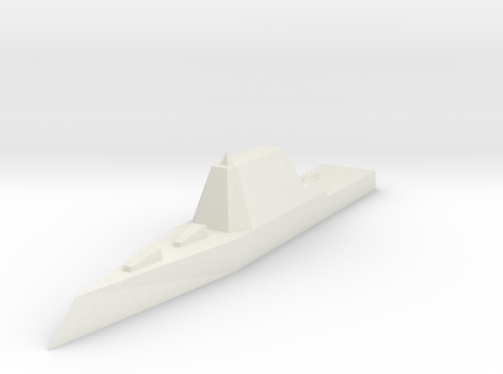Zumwalt Class Destroyer 1:1800 x1 3d printed