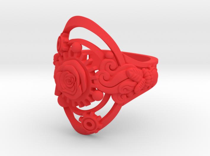 Botanika Mechanicum Ring SIZE 10 3d printed