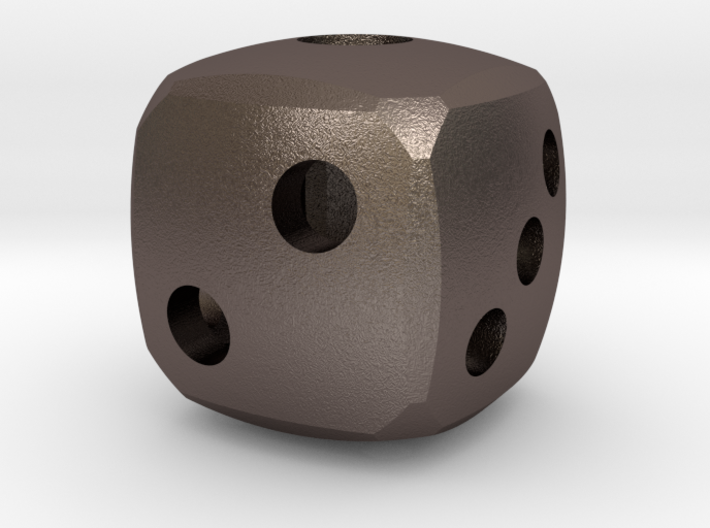 Rounded dice 3d printed