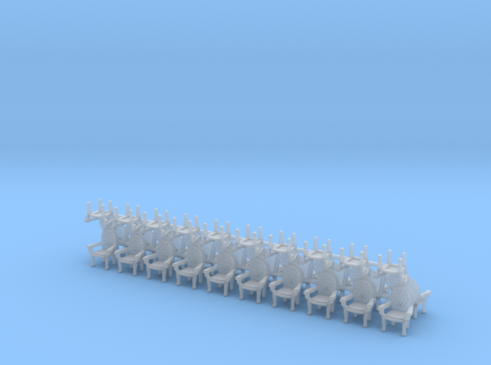 Parlor Chairs X30 HO Scale (Higher detail) 3d printed