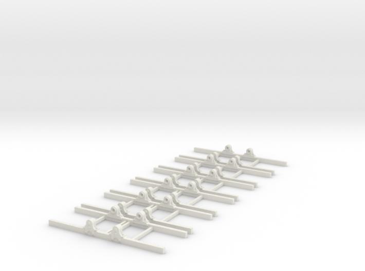 OO9 Underframe type b 3ft wb x6 3d printed