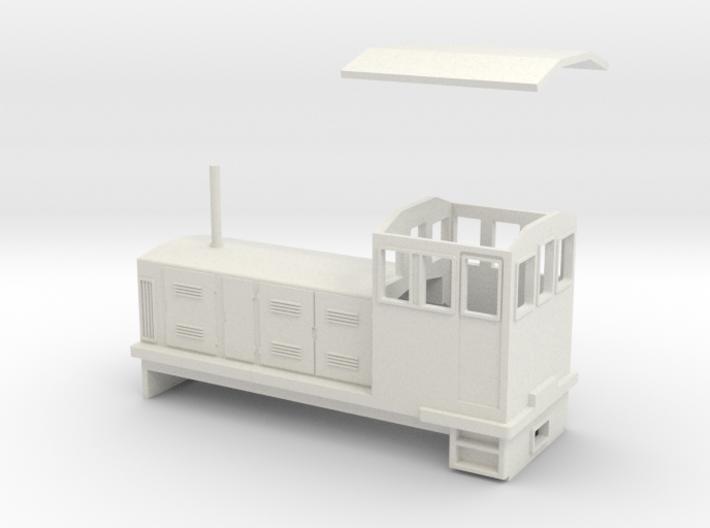 "HOn30 Endcab Locomotive (""Elke"") 3d printed"