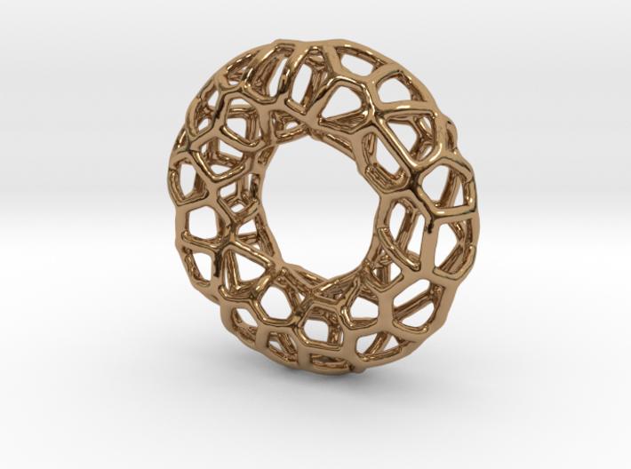 Organic Circle Pendant 3d printed