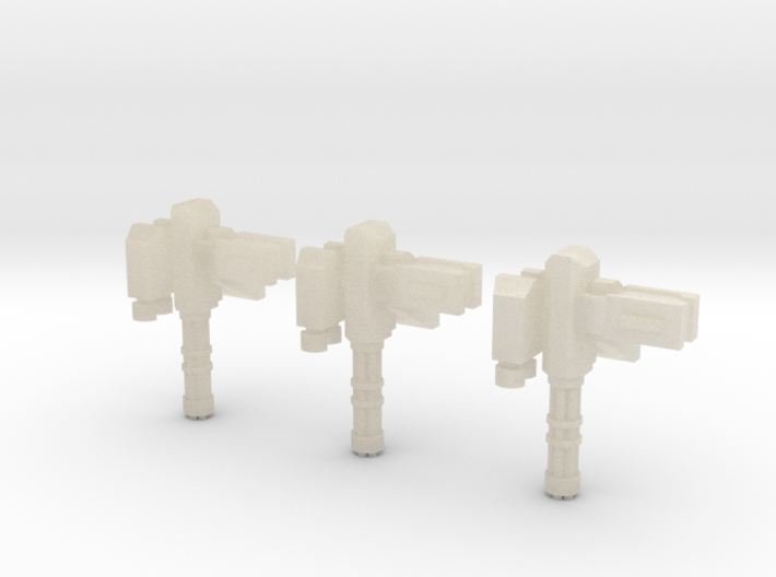 15mm Remote Gatling Gun (x3) 3d printed