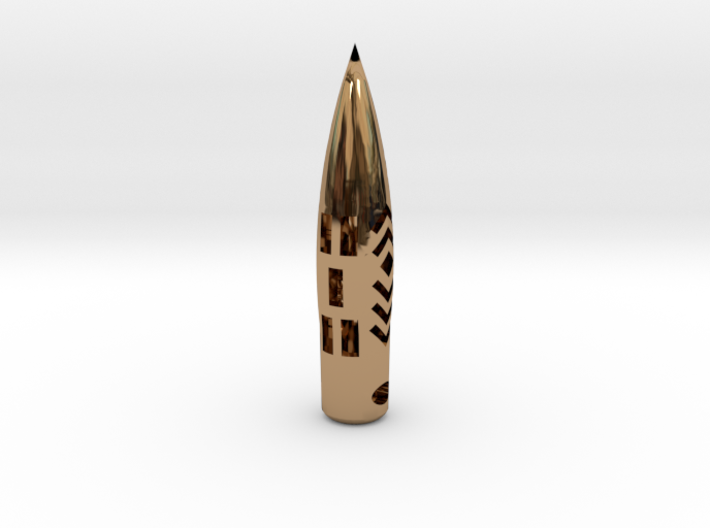 "50BMG ""Hogstooth"" necklace  *CUSTOMIZED* with Name 3d printed"