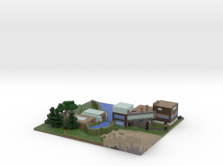 Old Minecraft towncenter. 3d printed