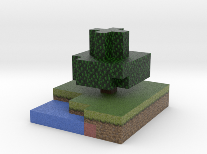 Minecraft tree, summer 3d printed