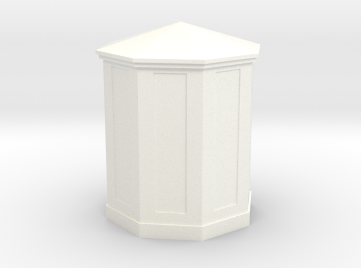 HO Scale (1/87) B&O Large Telephone Booth 3d printed