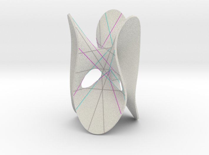 Clebsch Diagonal Surface with Double Six 3d printed
