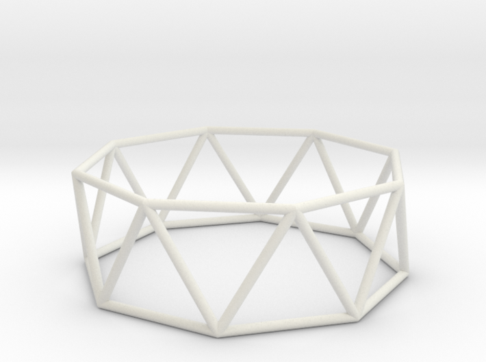 octagonal antiprism 70mm 3d printed