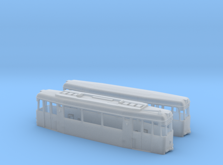 Gotha T2/B2-62 tram set (one direction) (1:160) 3d printed