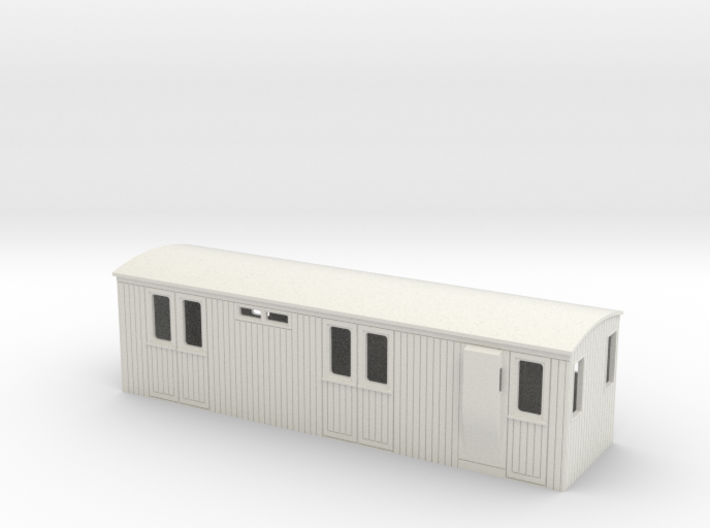 009 colonial luggage brake coach (short) 3d printed