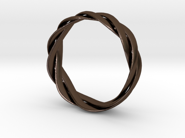 Braided ring 19.2mm 3d printed