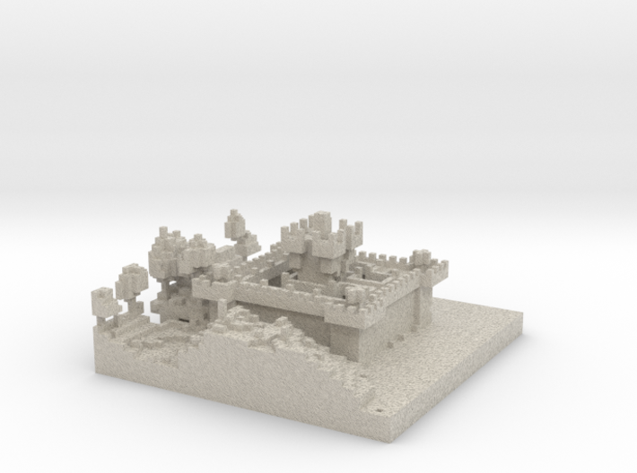 Johns Castle and Land 3d printed