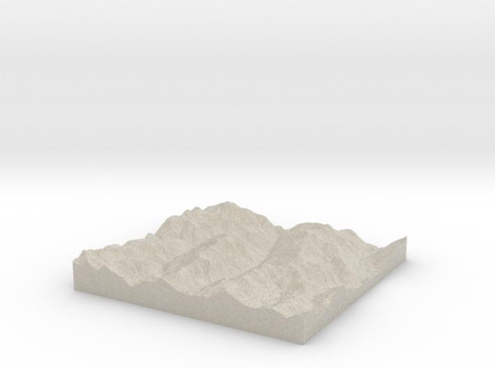 Model of McCoy Peak 3d printed
