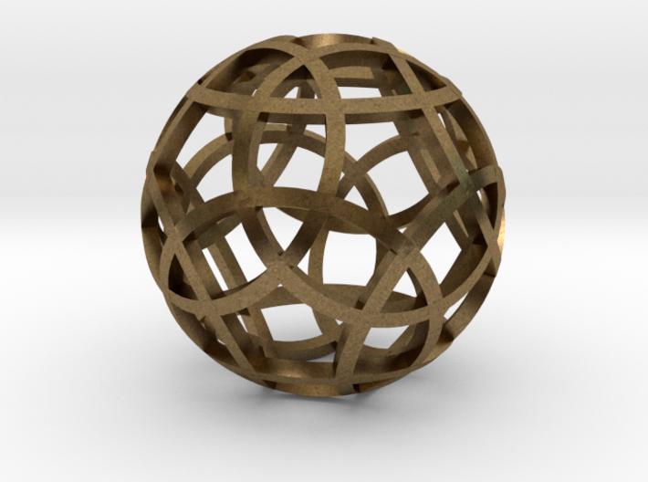 Stripsphere Pendant 3d printed